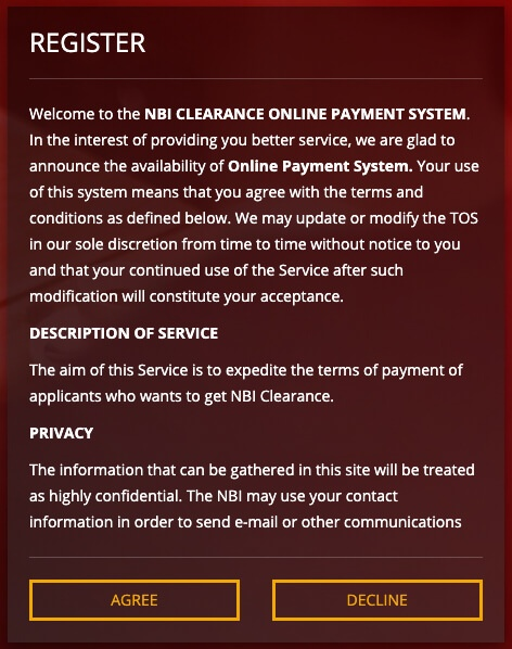 NBI Clearance Online Registration
